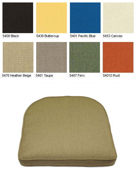 Tapered Seat Cushions Item No Kc05sc