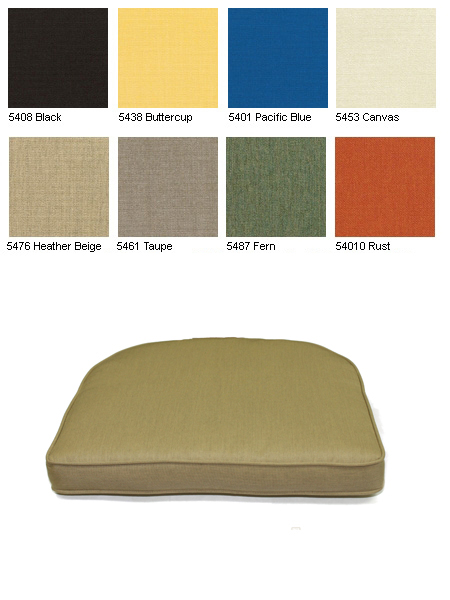 Tapered Seat Cushions Item No Kc05sc1